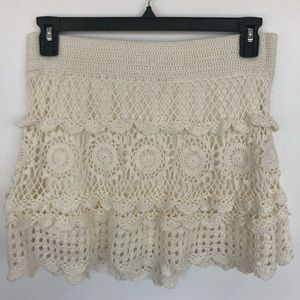 Dresses & Skirts - Festival style crochet skirt
